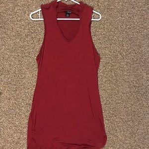 Deep Red Dress